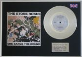 "THE STONE ROSES - 7"" Platinum Disc + cover -SHE BANGS THE DRUMS"